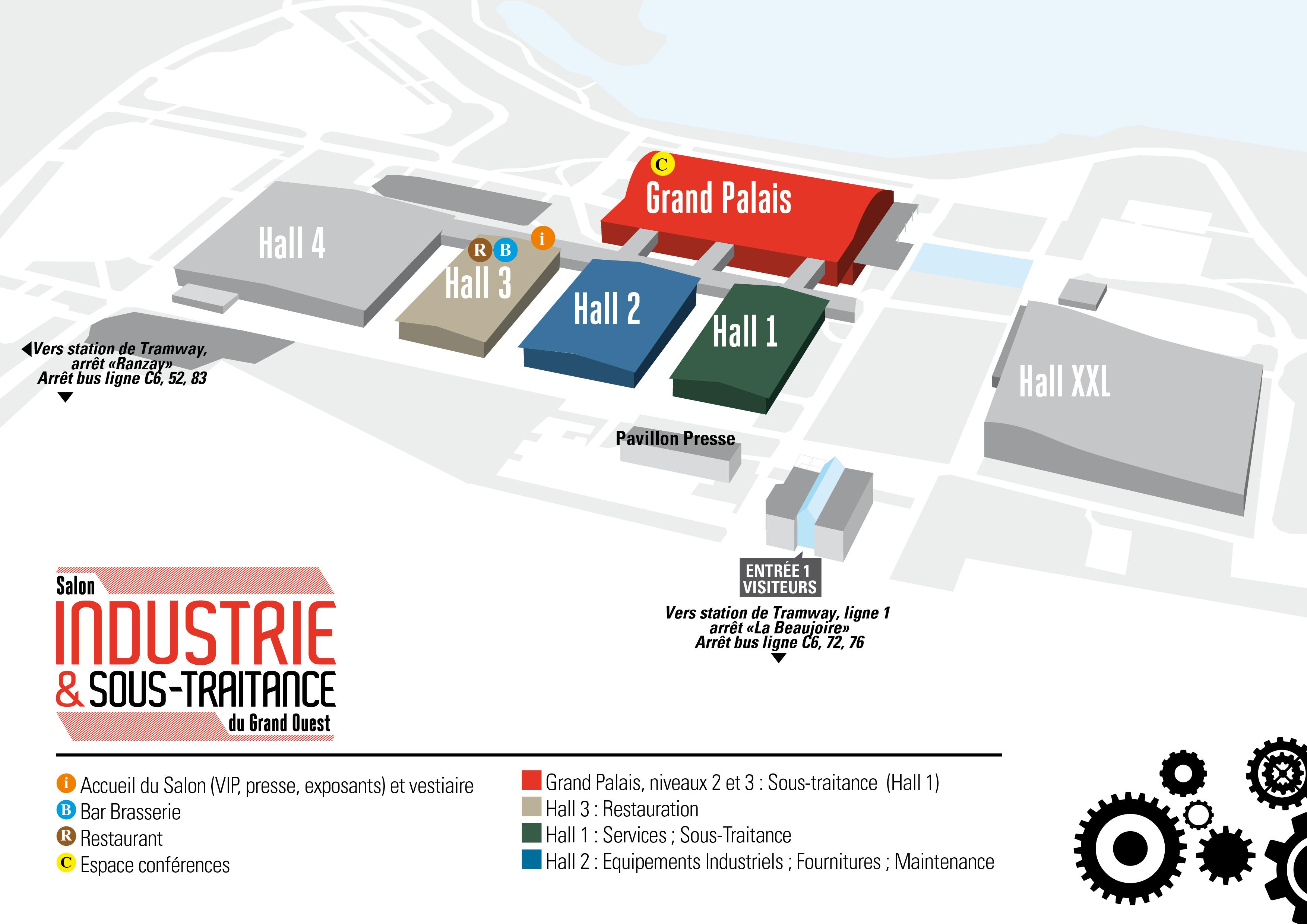 Plan du salon infos pratiques industrie et sous for Salon de l industrie nantes